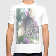 Sheer Butterfly SMALL White Mens Fitted Tee