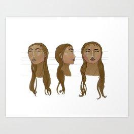 Dublin - Character sheet Art Print