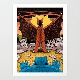 Kaiju Battle! Art Print