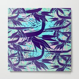 purple birds of paradise Metal Print