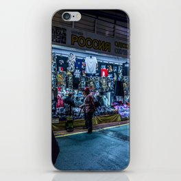 Busan neon lights iPhone Skin