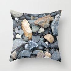 Rocks Pebbles Stones :: Alaskan Sand Throw Pillow