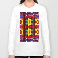 quilt Long Sleeve T-shirts featuring urban quilt by stoneRage