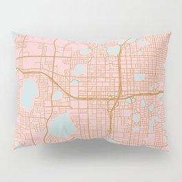Orlando map, Florida Pillow Sham
