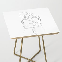 Lovers - Minimal Line Drawing Side Table