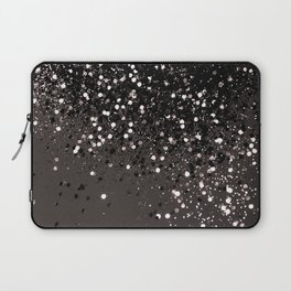 Blush Gray Black Lady Glitter #2 #shiny #decor #art #society6 Laptop Sleeve