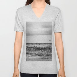 Stormy Beach Unisex V-Neck