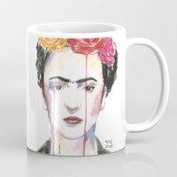 frida Mugs featuring Frida by SirScm