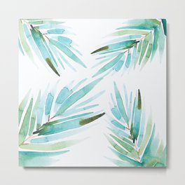 Palm tree leaves Metal Print