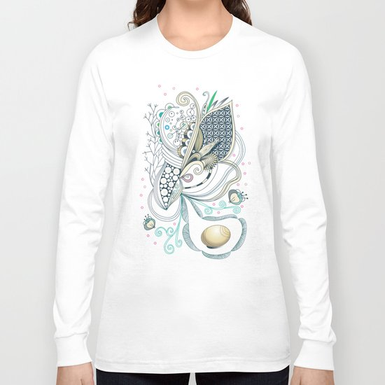 Beige tangle of joy and vibrant nature Long Sleeve T-shirt