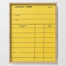 Library Card BSS 28 Yellow Serving Tray