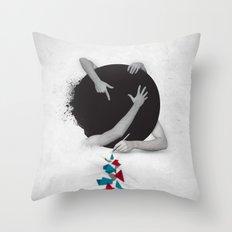 Something in Progress Throw Pillow