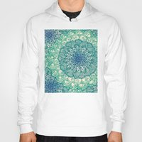 zentangle Hoodies featuring Emerald Doodle by micklyn