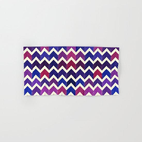 Colorful Chevron Pattern II Hand & Bath Towel