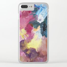 Drinking Up the Rain Abstract Painting Clear iPhone Case