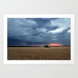 Harvest During A Storm Art Print