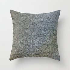 Sea of Lines Throw Pillow