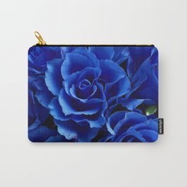 Blue Roses Flowers Plant Romance Carry-All Pouch