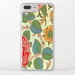 William Morris Rose Clear iPhone Case