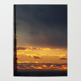 Sunset in NYC Poster