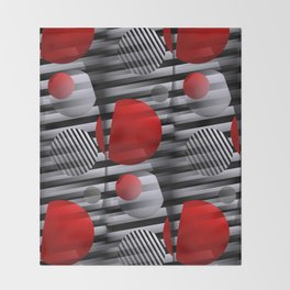 3D - abstraction -38- Throw Blanket