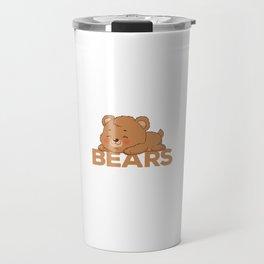 Easily Distracted By Bears Grizzly Animal Travel Mug