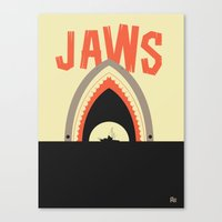 jaws Canvas Prints featuring Jaws by Ryder Doty