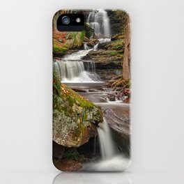 Ricketts Glen Waterfall Layers iPhone Case