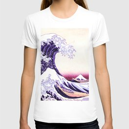 The Great wave purple fuchsia T-shirt