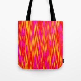 WAVY #1 (Reds, Oranges, Yellows & Fuchsias) Tote Bag