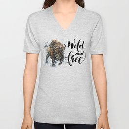 Buffalo Wild and Free Unisex V-Neck