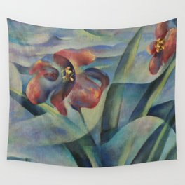 Magic Pool - Flowers Wall Tapestry