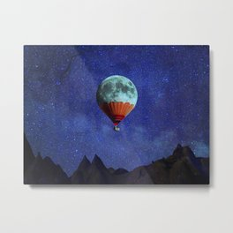 Hot Air Moon Metal Print