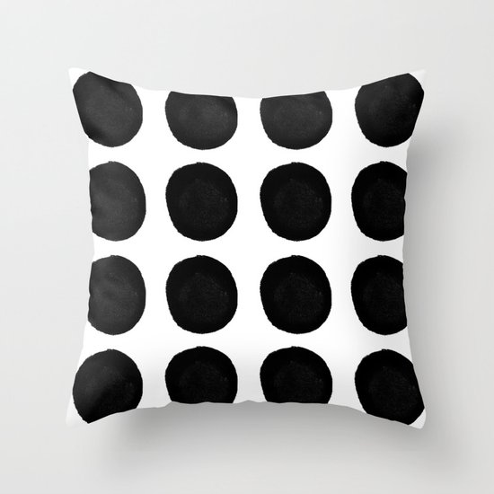 Nordic interior dotted Throw Pillow