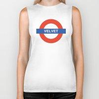 velvet underground Biker Tanks featuring Velvet Underground by WALRUS