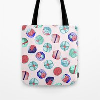 sushi Tote Bags featuring Sushi by Óscar Andrés Berrío