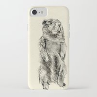 beaver iPhone & iPod Cases featuring Beaver by Amy Veried