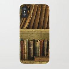 Old Books iPhone X Slim Case