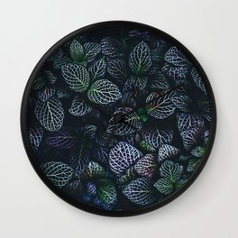 Alien Leaves Wall Clock