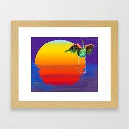 bosque bird Framed Art Print