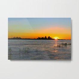 NOLA Sunset Metal Print