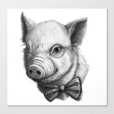 BowTie Piglet G136 Canvas Print