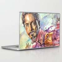 tony stark Laptop & iPad Skins featuring Tony Stark by Trenita