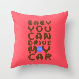 Drive My Car Throw Pillow