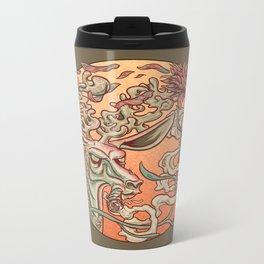 Deer Smoke & Indian Paintbrush Metal Travel Mug
