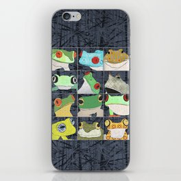 Frogs vertical iPhone Skin