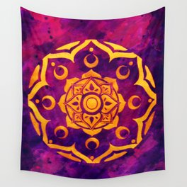 """""""Witchcraft""""  WATERCOLOR MANDALA (HAND PAINTED) BY ILSE QUEZADA Wall Tapestry"""