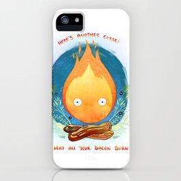 burn bacon, burn iPhone Case