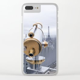 A view of Paris Clear iPhone Case