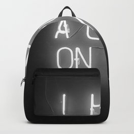I Have a Crush on You (Black and White) Backpack
